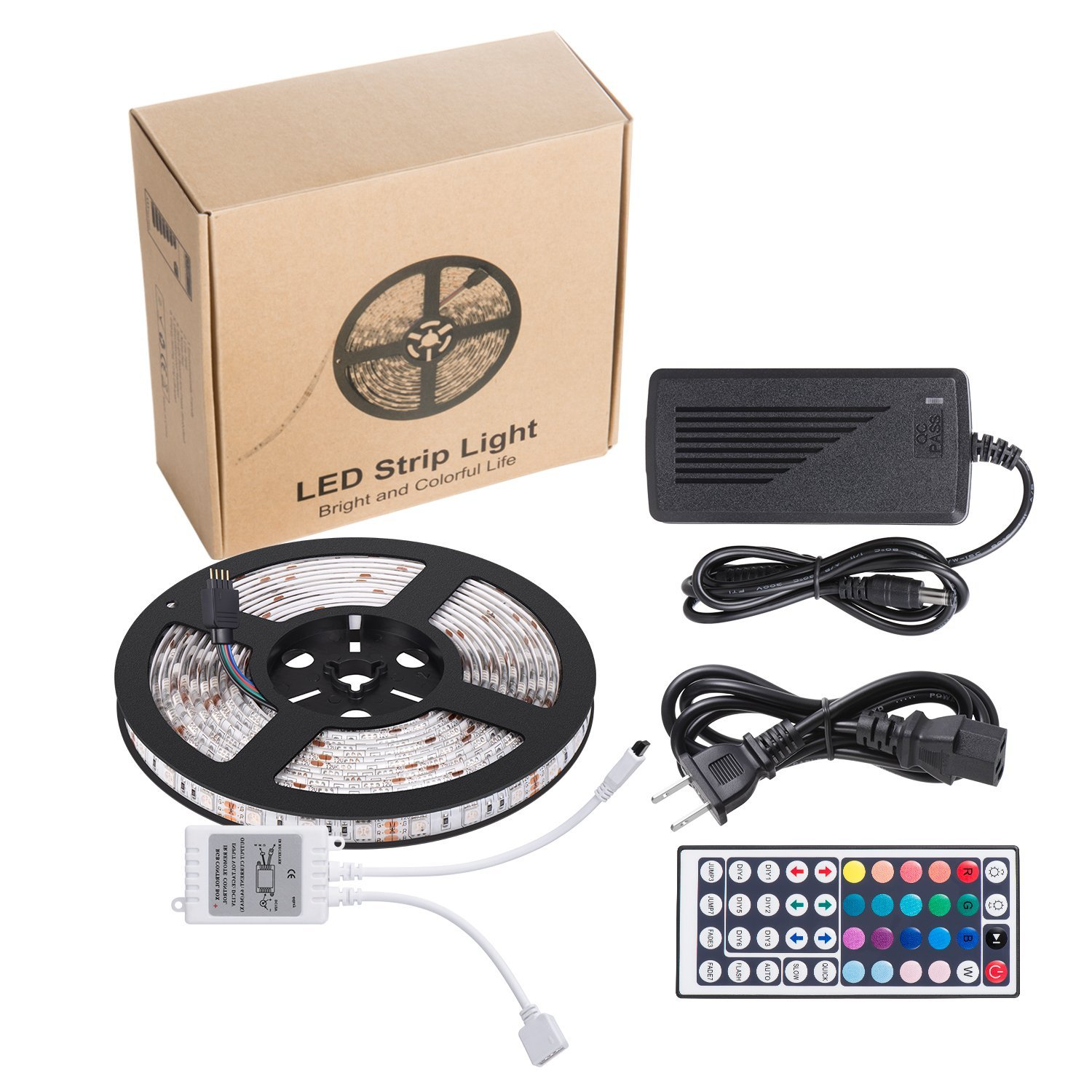 Buy 5050 LED RGB light strip online through Amazon (includes Prime)